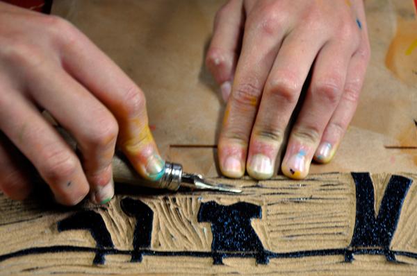 Linosnede maken - workshop door Henny van Ham